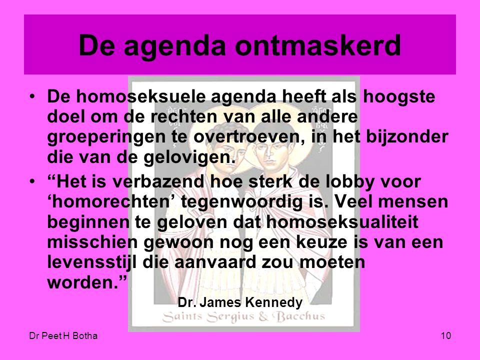 De agenda ontmaskerd