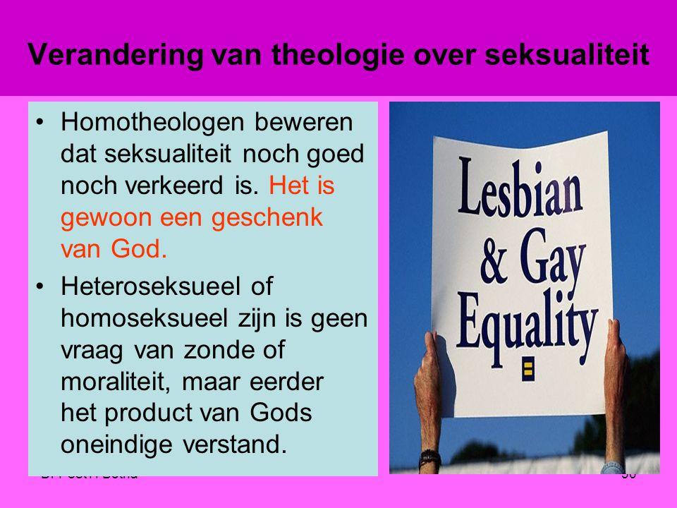 Verandering van theologie over seksualiteit