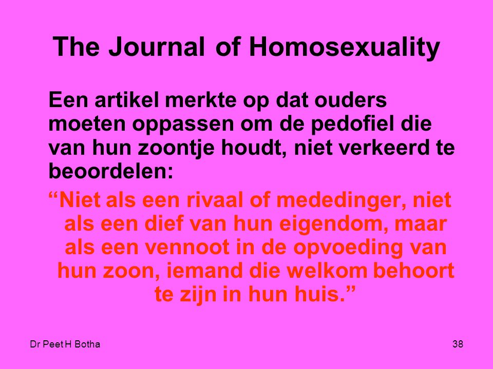 The Journal of Homosexuality