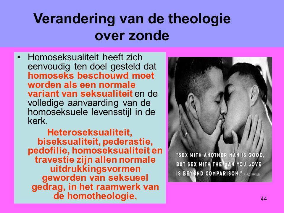 Verandering van de theologie over zonde