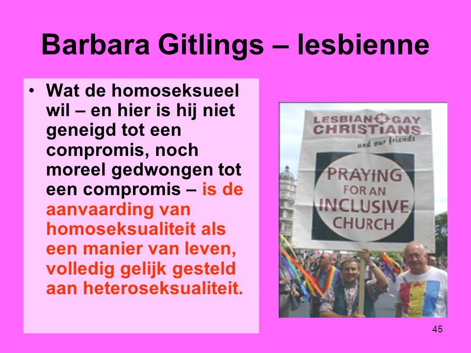Barbara Gitlings – lesbienne