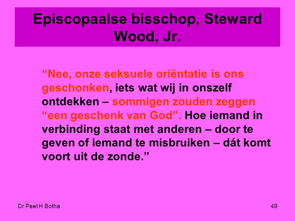 Episcopaalse bisschop, Steward Wood, Jr.