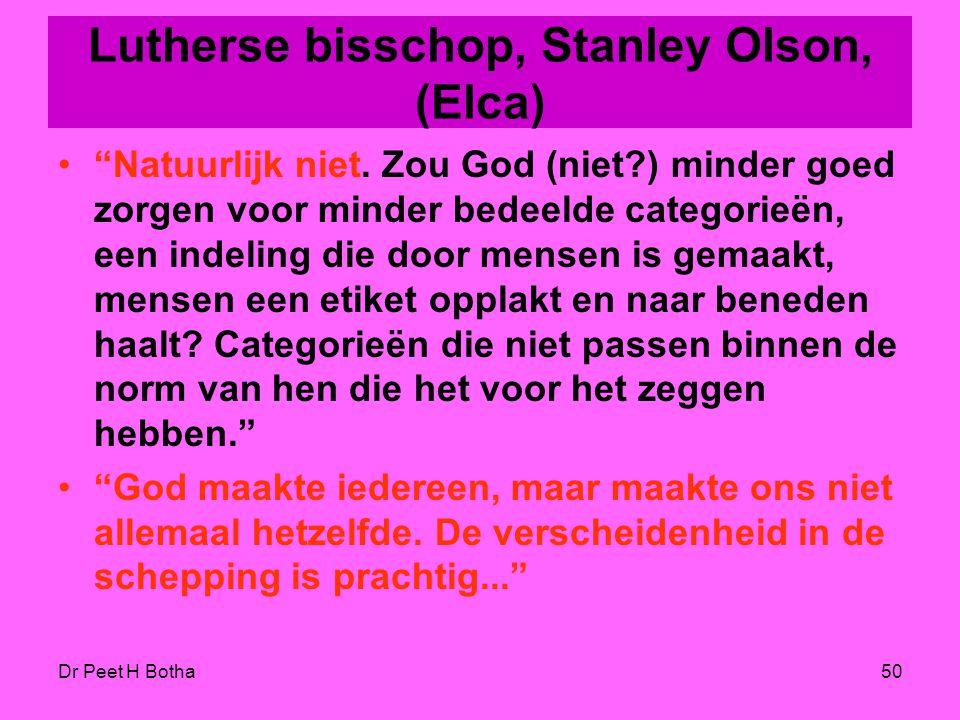 Lutherse bisschop, Stanley Olson, (Elca)