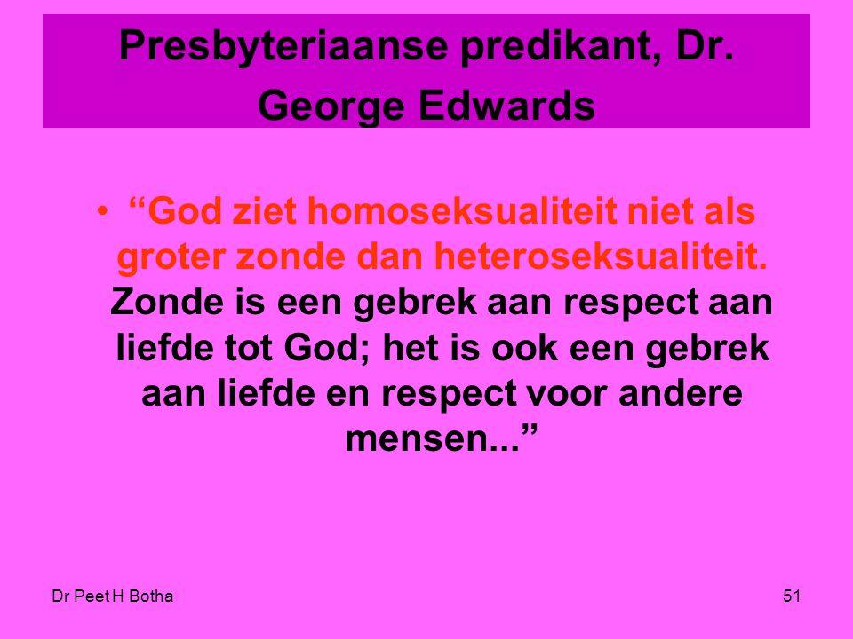 Presbyteriaanse predikant, Dr. George Edwards