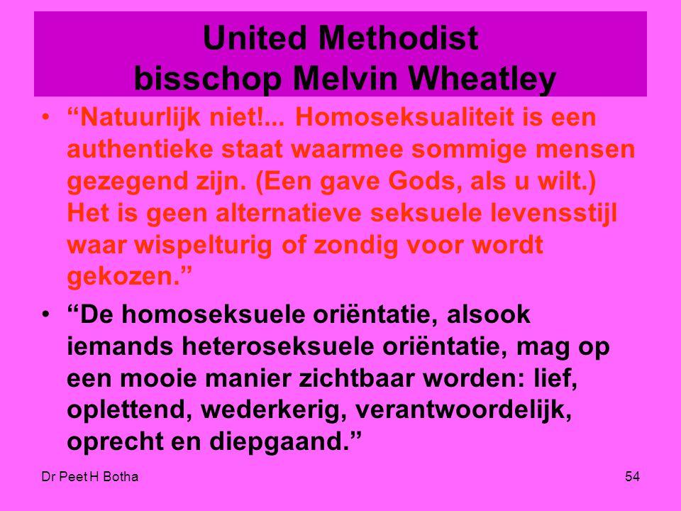 United Methodist bisschop Melvin Wheatley