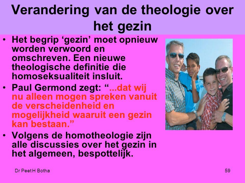 Verandering van de theologie over het gezin