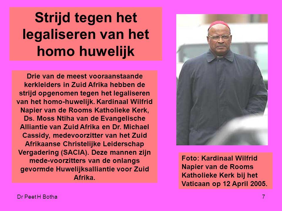 Strijd tegen het legaliseren van het homo huwelijk