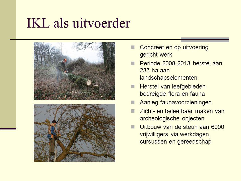 IKL als uitvoerder Concreet en op uitvoering gericht werk