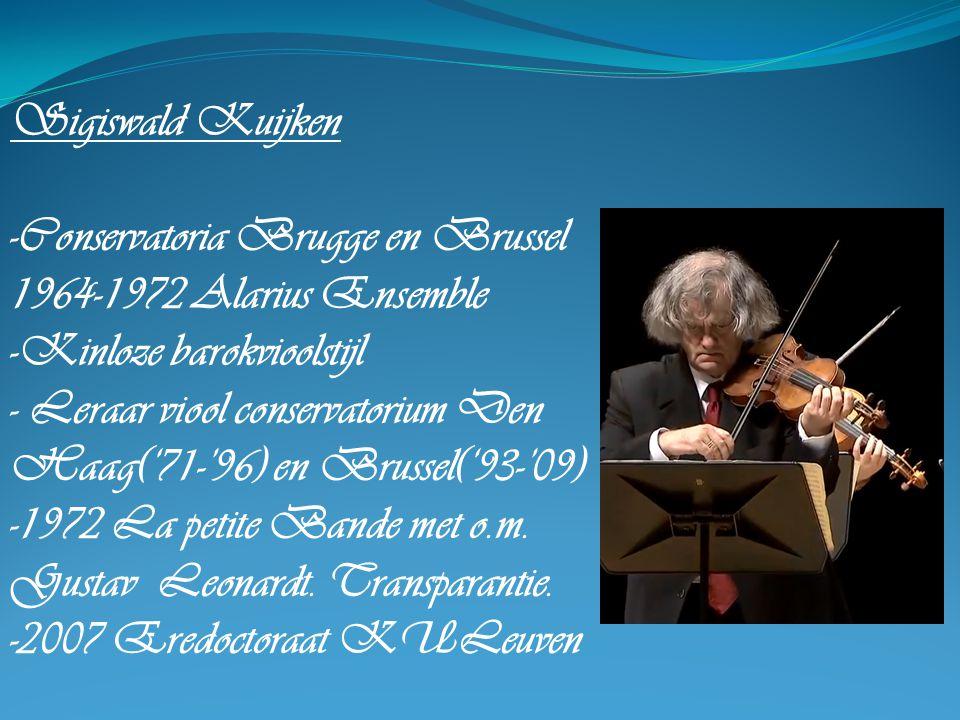-Conservatoria Brugge en Brussel 1964-1972 Alarius Ensemble