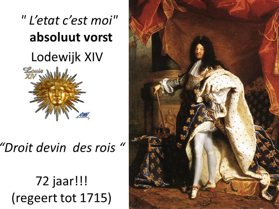 L'etat c'est moi absoluut vorst Lodewijk XIV