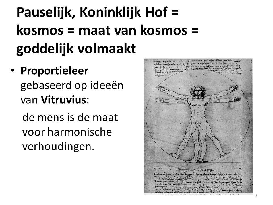 Pauselijk, Koninklijk Hof = kosmos = maat van kosmos = goddelijk volmaakt