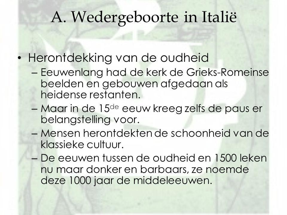 A. Wedergeboorte in Italië