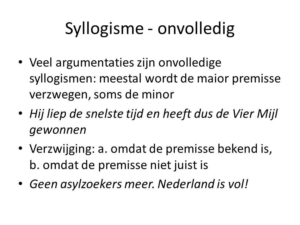 Syllogisme - onvolledig