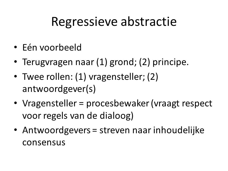 Regressieve abstractie