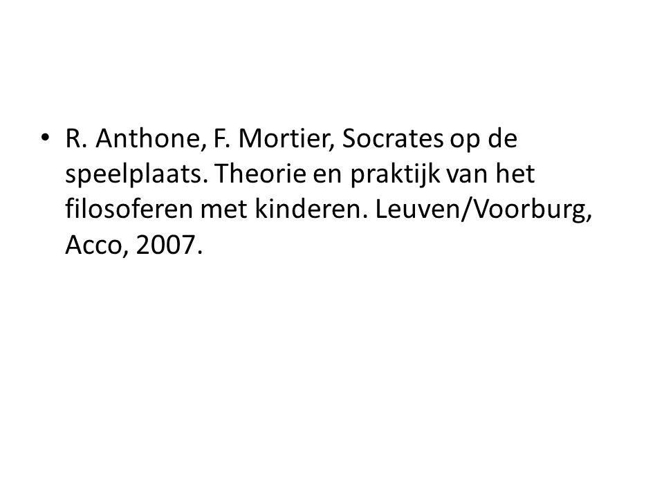 R. Anthone, F. Mortier, Socrates op de speelplaats