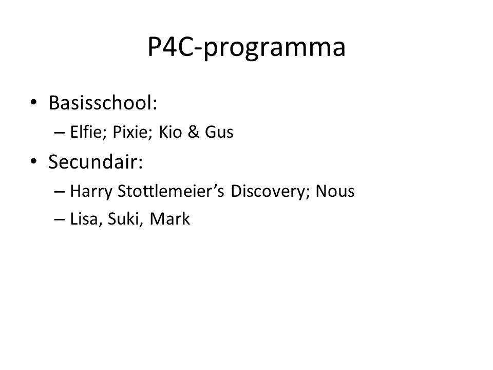 P4C-programma Basisschool: Secundair: Elfie; Pixie; Kio & Gus