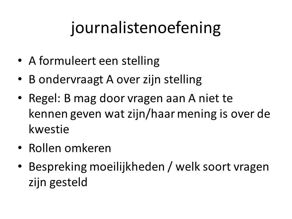 journalistenoefening