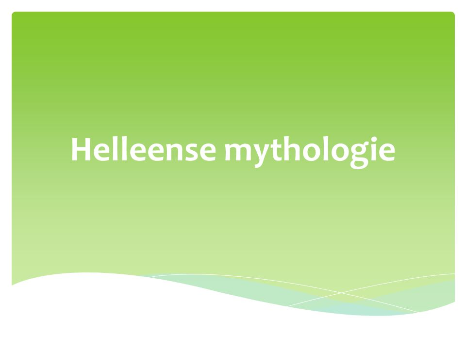 Helleense mythologie
