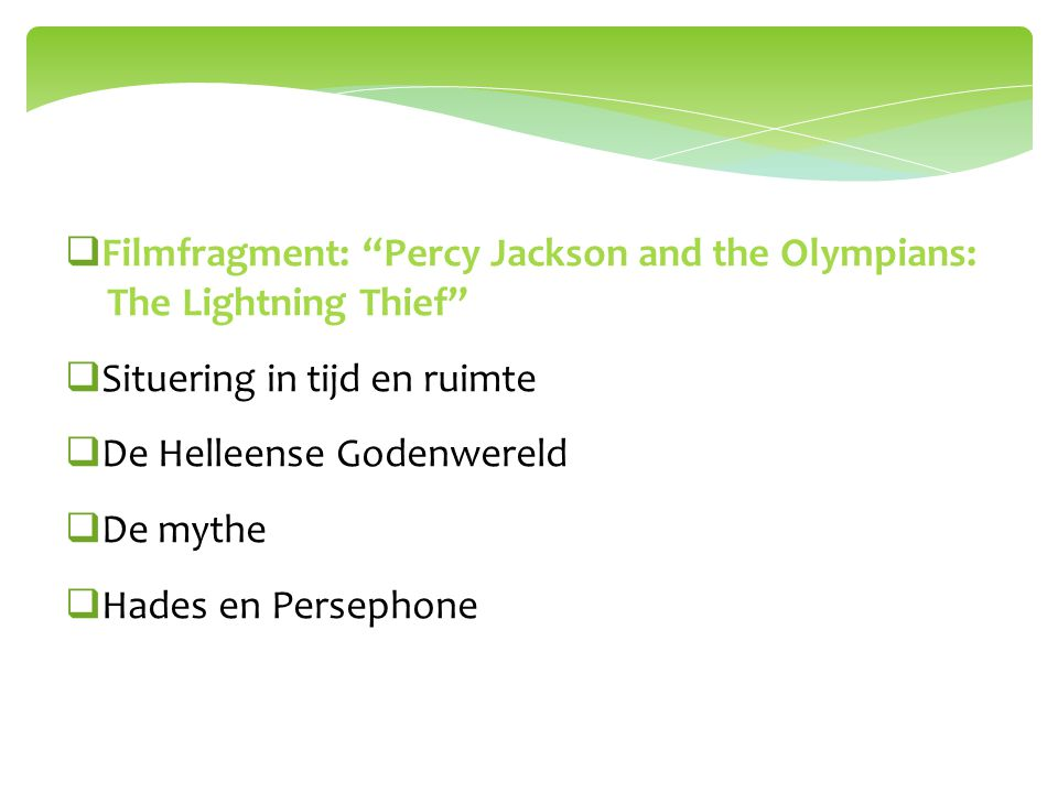 Filmfragment: Percy Jackson and the Olympians: The Lightning Thief