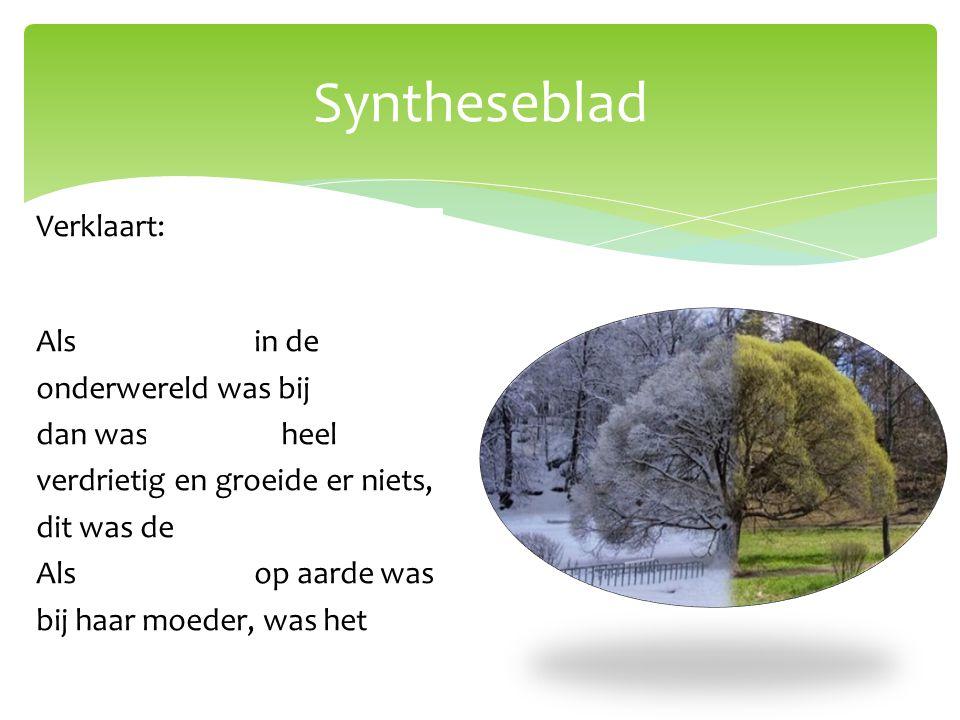 Syntheseblad Verklaart: de wisseling van de seizoenen