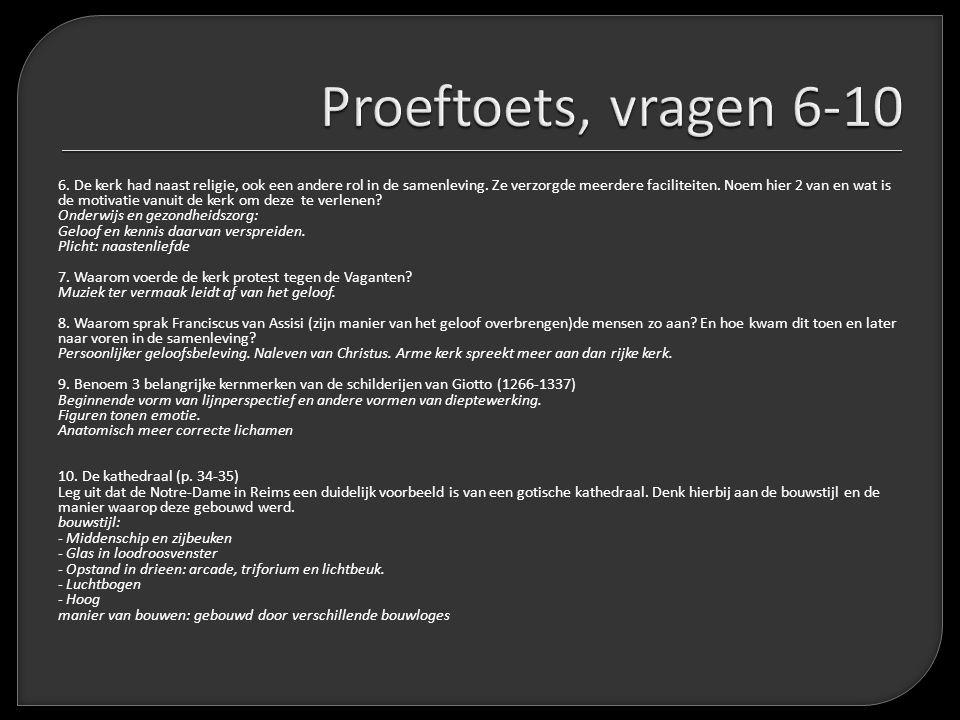 Proeftoets, vragen 6-10