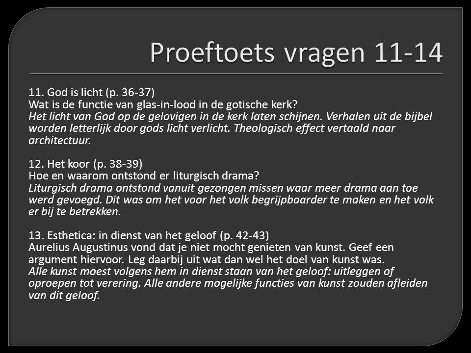 Proeftoets vragen 11-14
