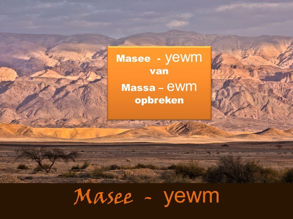 Masee - yewm van Massa – ewm opbreken Masee - yewm
