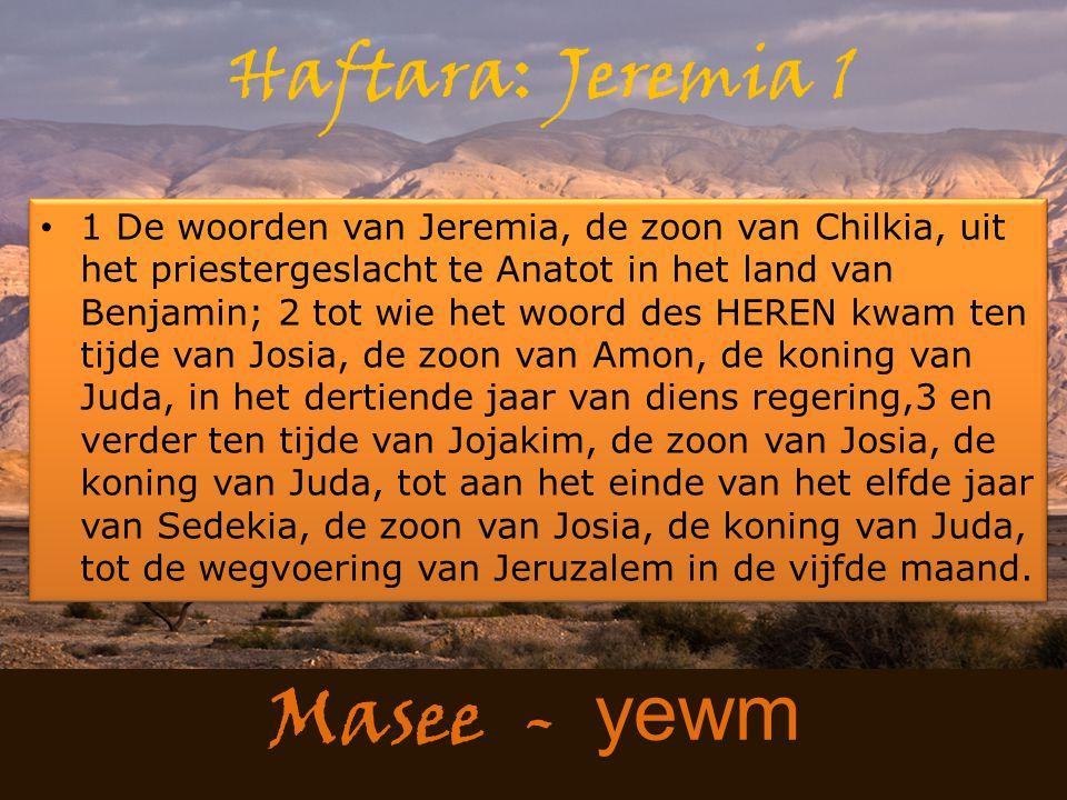 Haftara: Jeremia 1