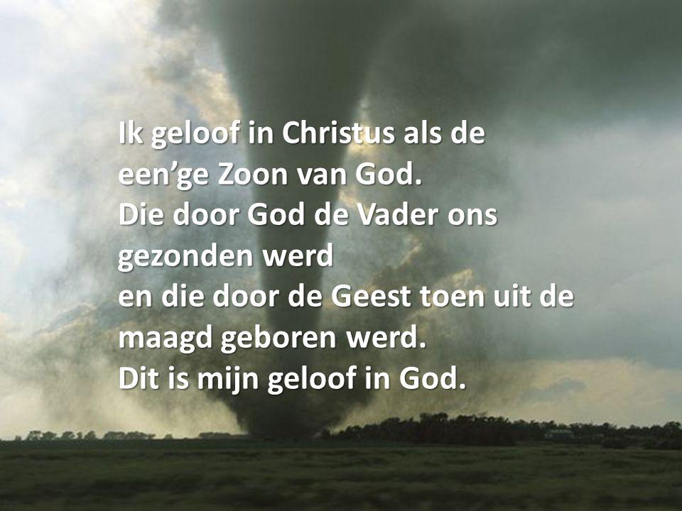 Ik geloof in Christus als de een'ge Zoon van God