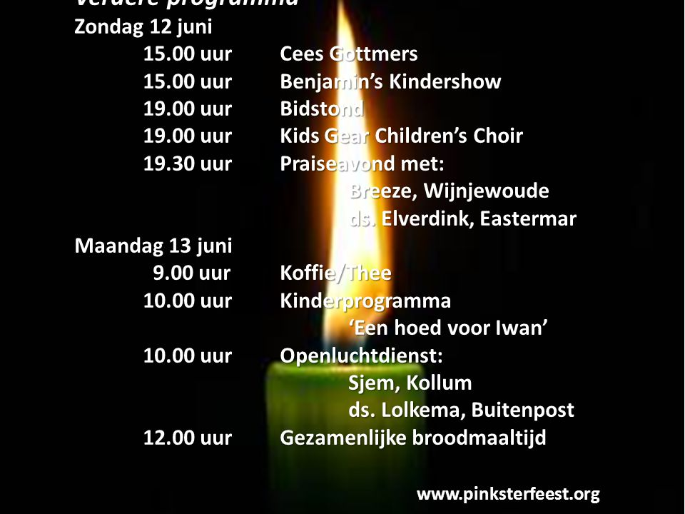 Verdere programma Zondag 12 juni 15.00 uur Cees Gottmers