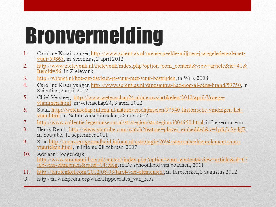 Bronvermelding Caroline Kraaijvanger,   in Scientias, 2 april