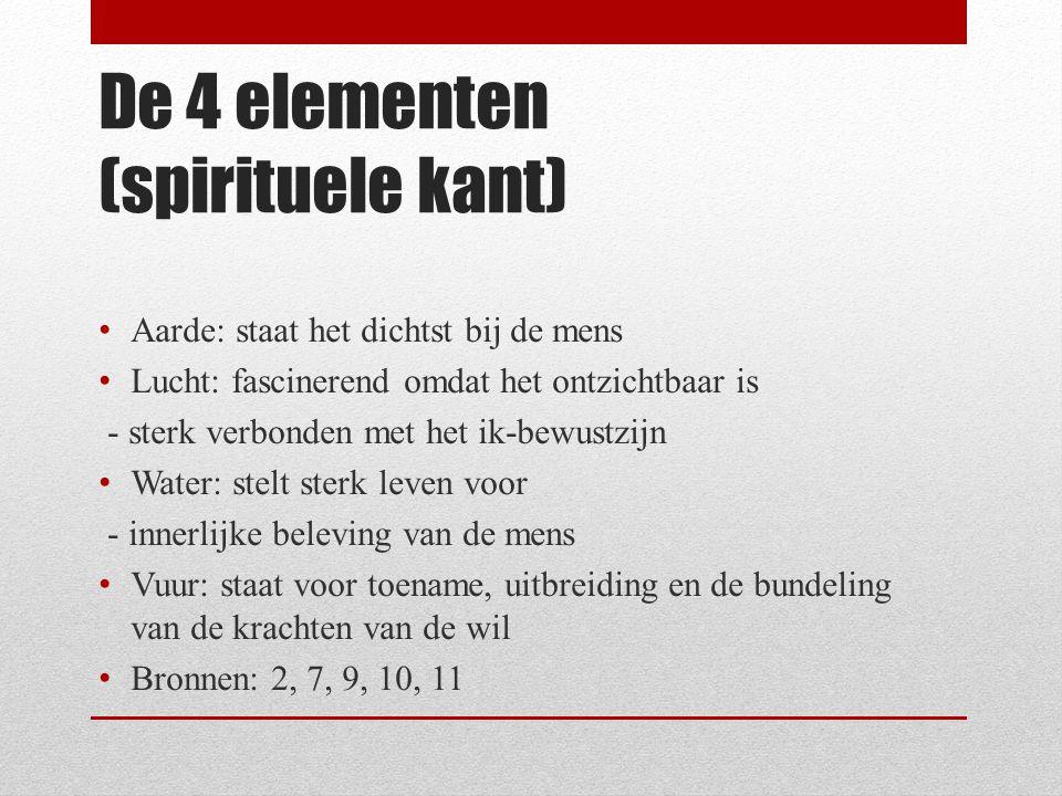 De 4 elementen (spirituele kant)
