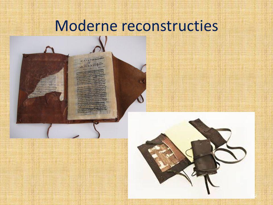 Moderne reconstructies