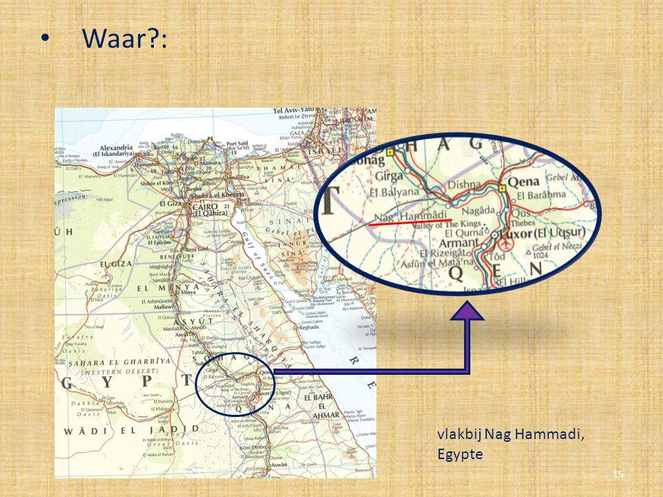 Waar : vlakbij Nag Hammadi, Egypte