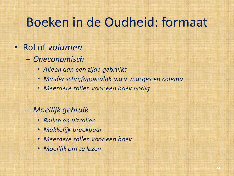 Boeken in de Oudheid: formaat