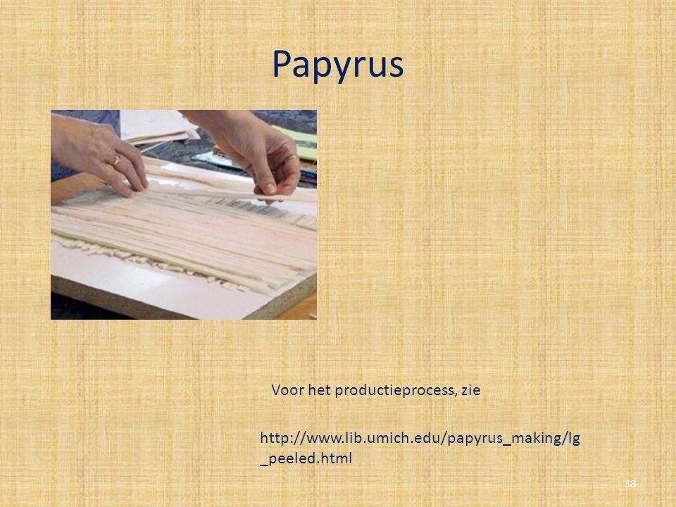 Papyrus Voor het productieprocess, zie