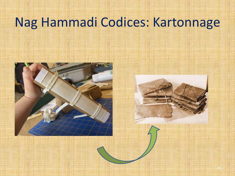 Nag Hammadi Codices: Kartonnage