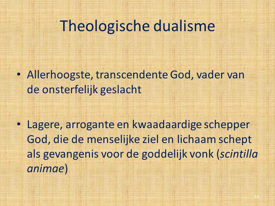 Theologische dualisme