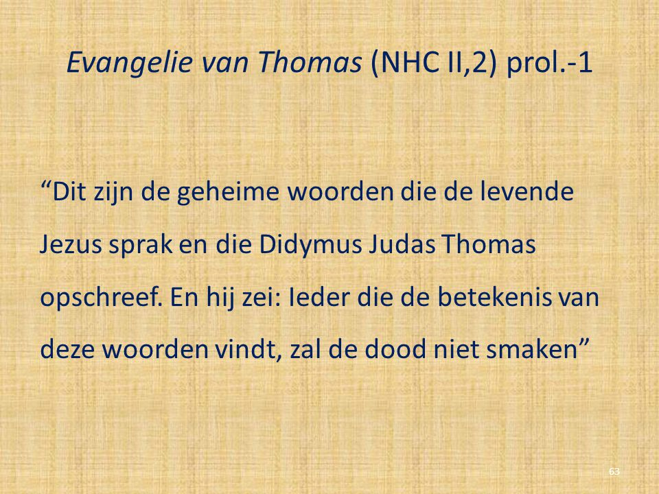Evangelie van Thomas (NHC II,2) prol.-1