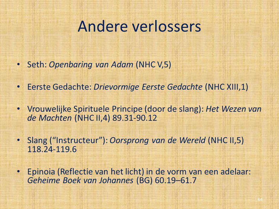 Andere verlossers Seth: Openbaring van Adam (NHC V,5)