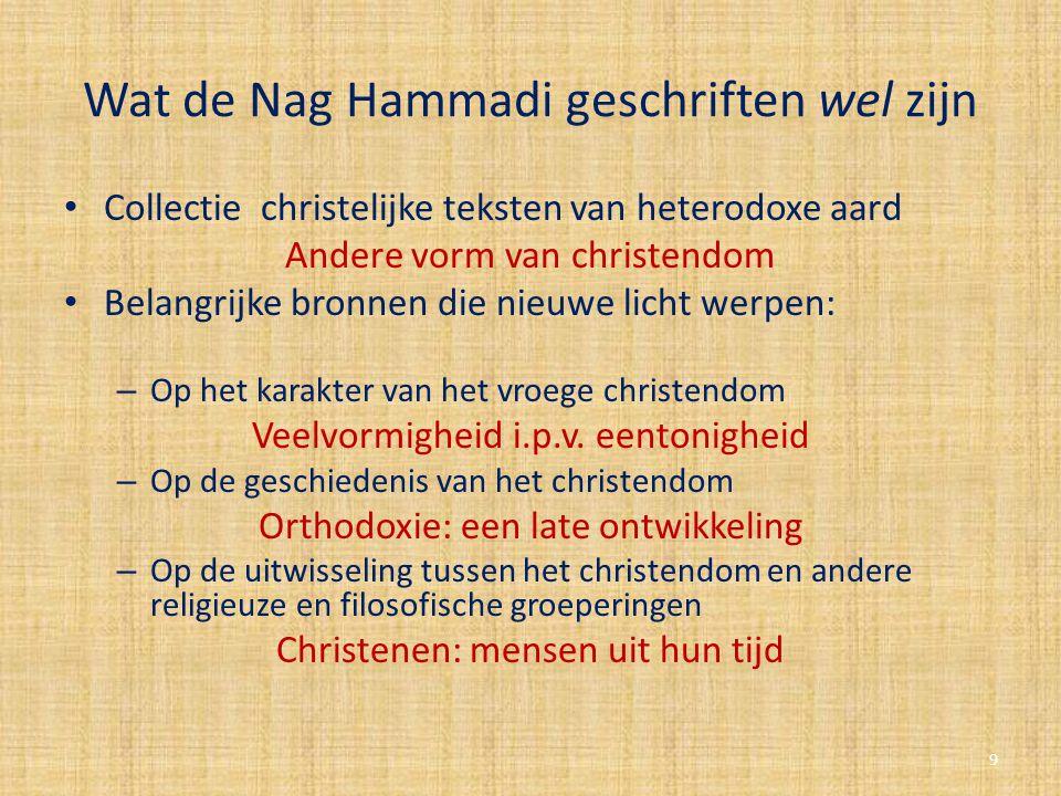 Wat de Nag Hammadi geschriften wel zijn