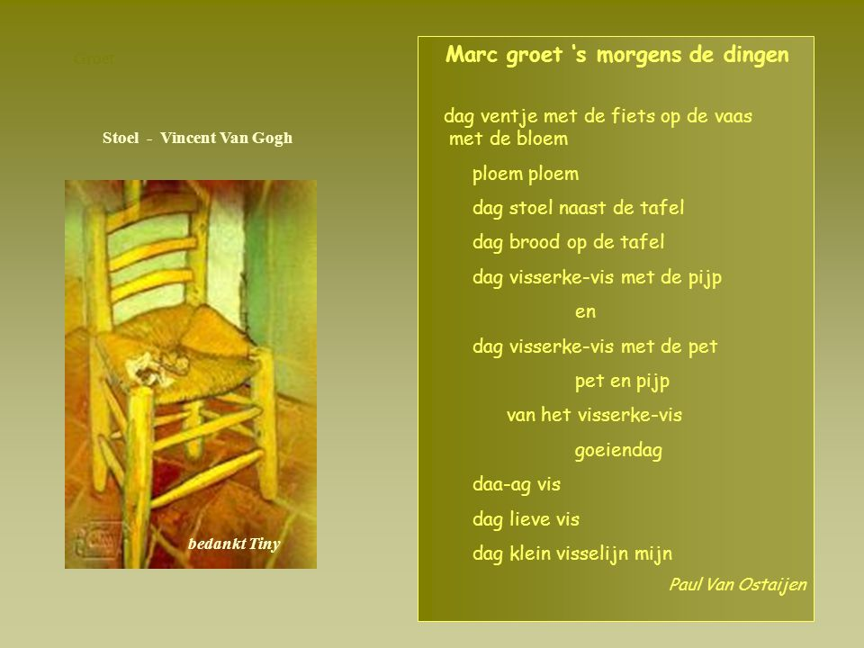 Stoel - Vincent Van Gogh