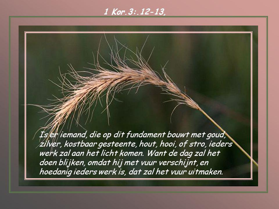1 Kor.3:.12-13,