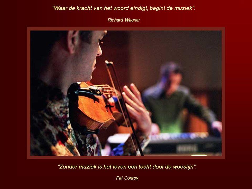 Waar de kracht van het woord eindigt, begint de muziek .