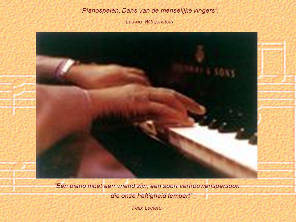 Pianospelen: Dans van de menselijke vingers .