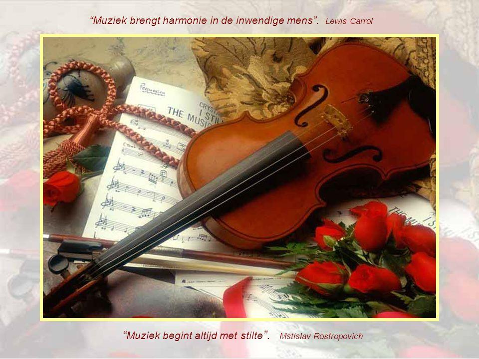 Muziek begint altijd met stilte . Mstislav Rostropovich