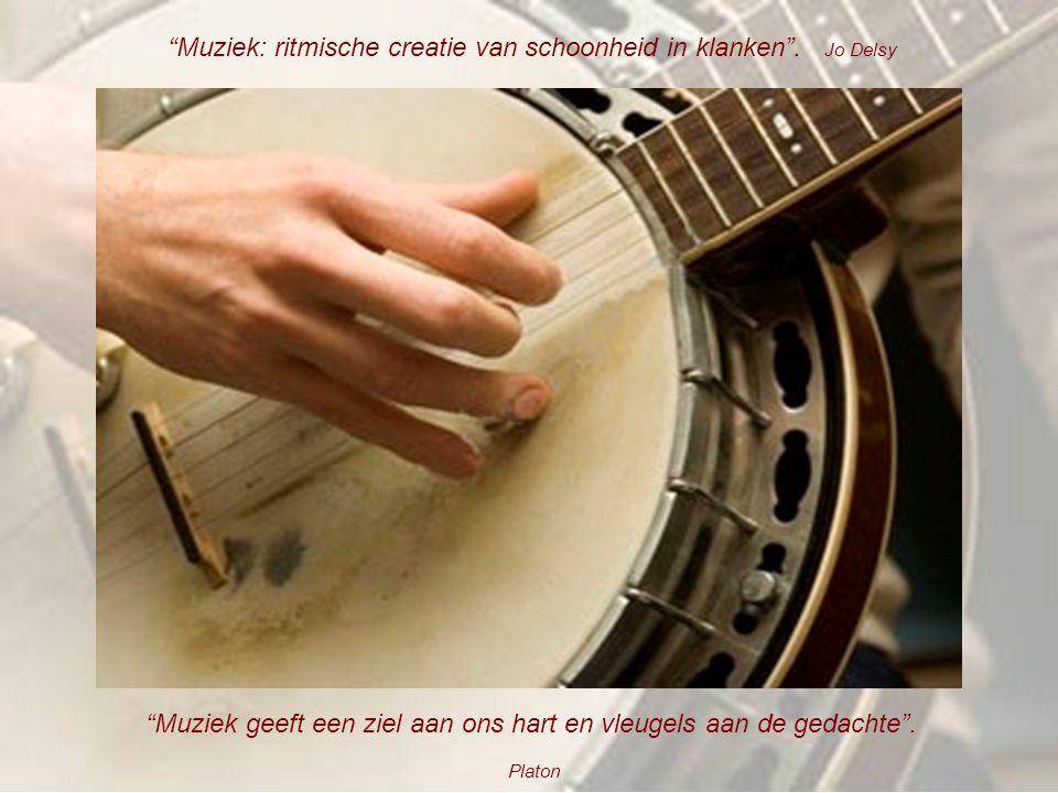 Muziek: ritmische creatie van schoonheid in klanken . Jo Delsy