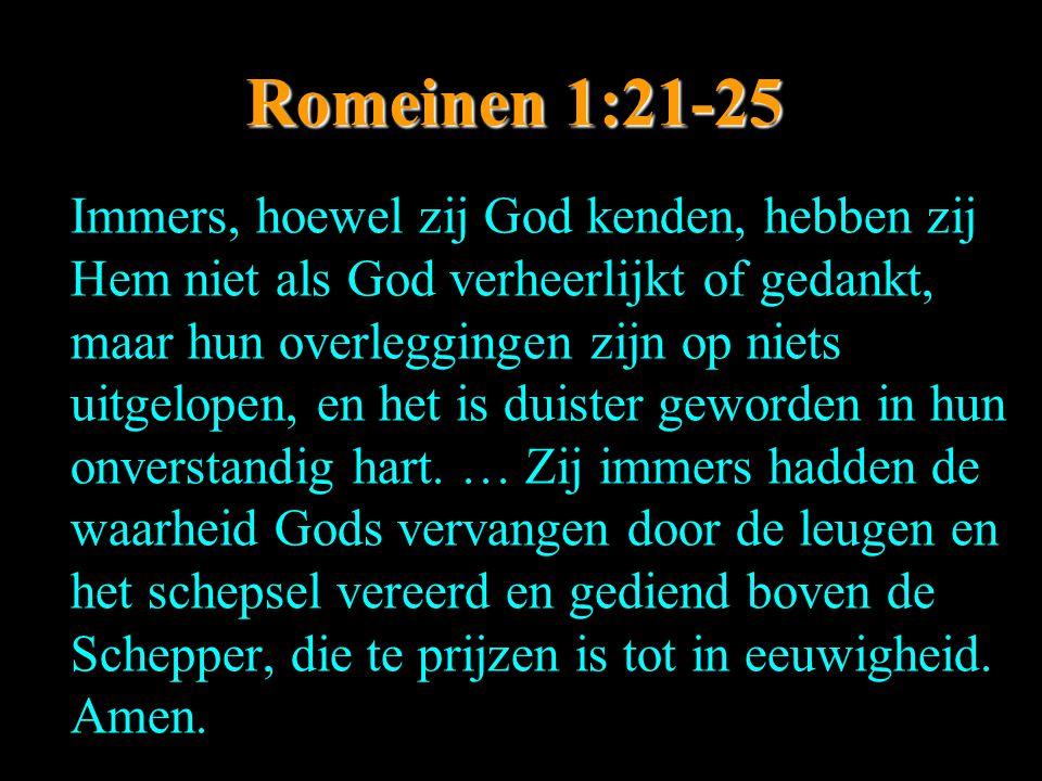 Romeinen 1:21-25