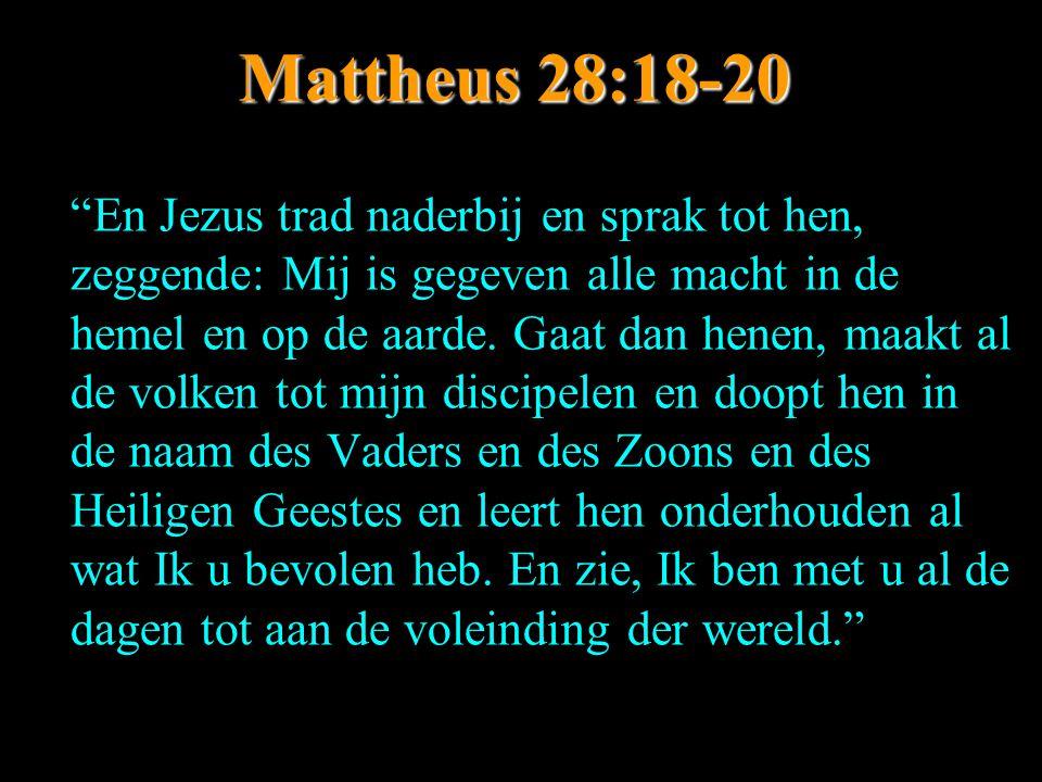 Mattheus 28:18-20