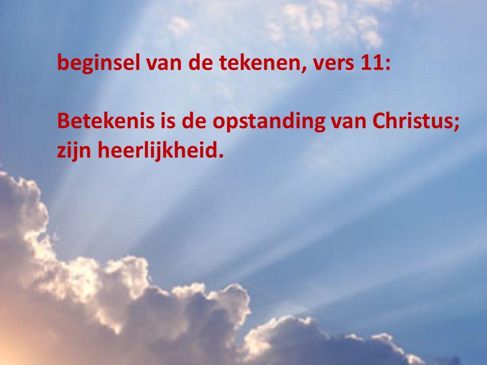 beginsel van de tekenen, vers 11: